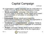 capital campaign continued
