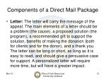 components of a direct mail package12
