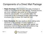 components of a direct mail package14
