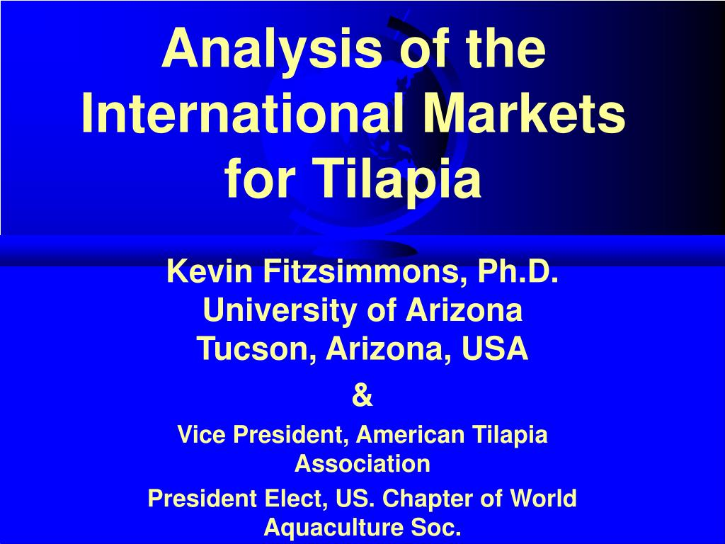 analysis of the international markets for tilapia l.