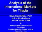analysis of the international markets for tilapia