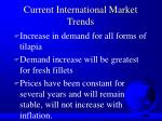 current international market trends