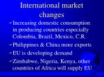 international market changes