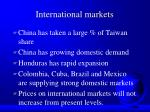 international markets