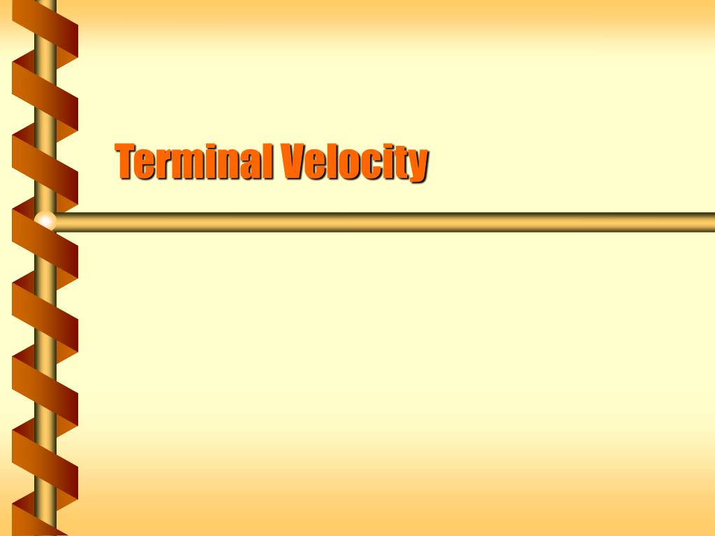 terminal velocity l.