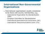 international non governmental organizations
