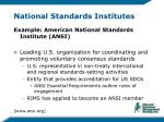 national standards institutes9