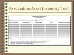 association asset inventory tool