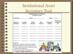institutional asset inventory tool