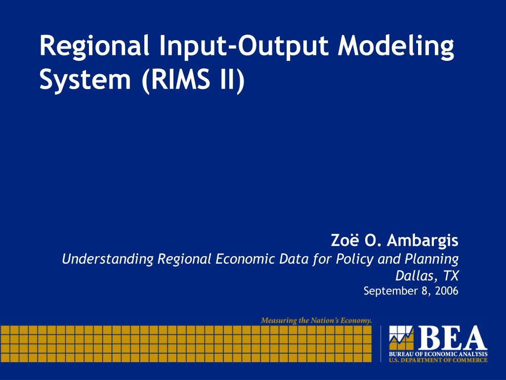 regional input output modeling system rims ii l.