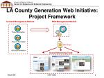 la county generation web initiative project framework