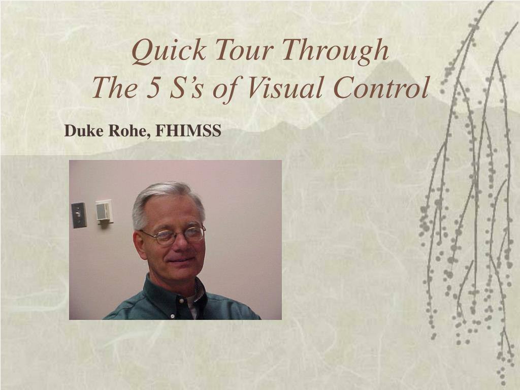 quick tour through the 5 s s of visual control l.