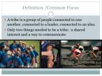 definition common focus
