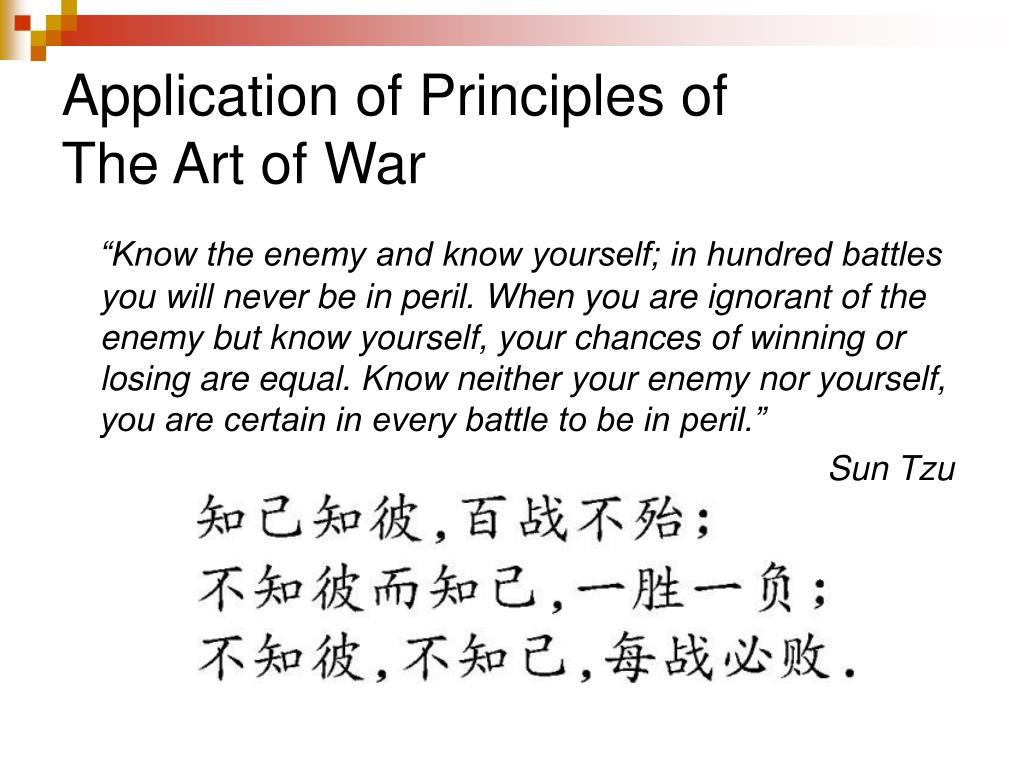 Application of Principles of