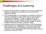 challenges of e learning