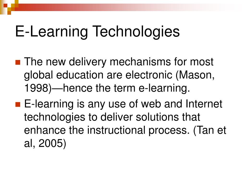 E-Learning Technologies