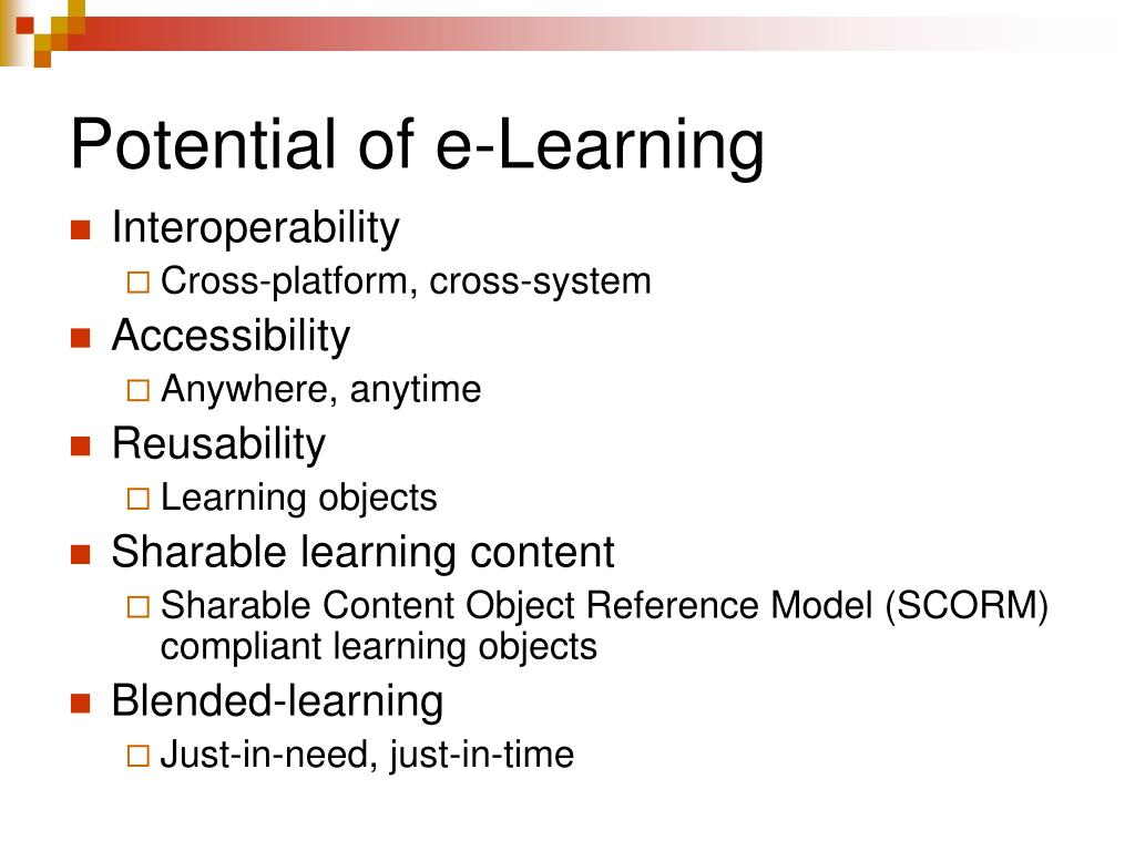 Potential of e-Learning