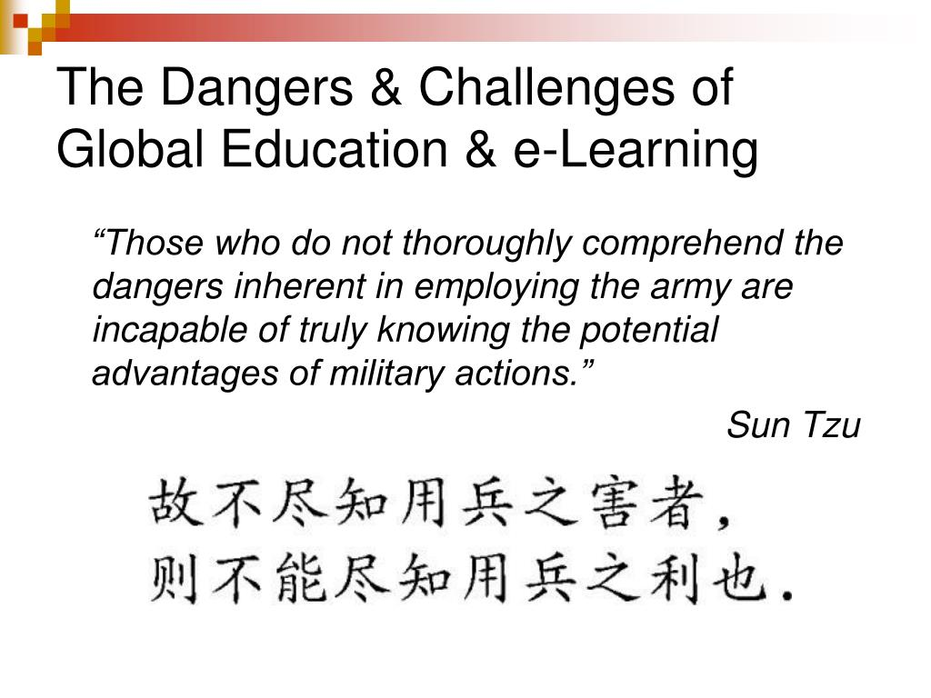 The Dangers & Challenges of Global Education & e-Learning