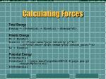calculating forces