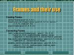 frames and their use