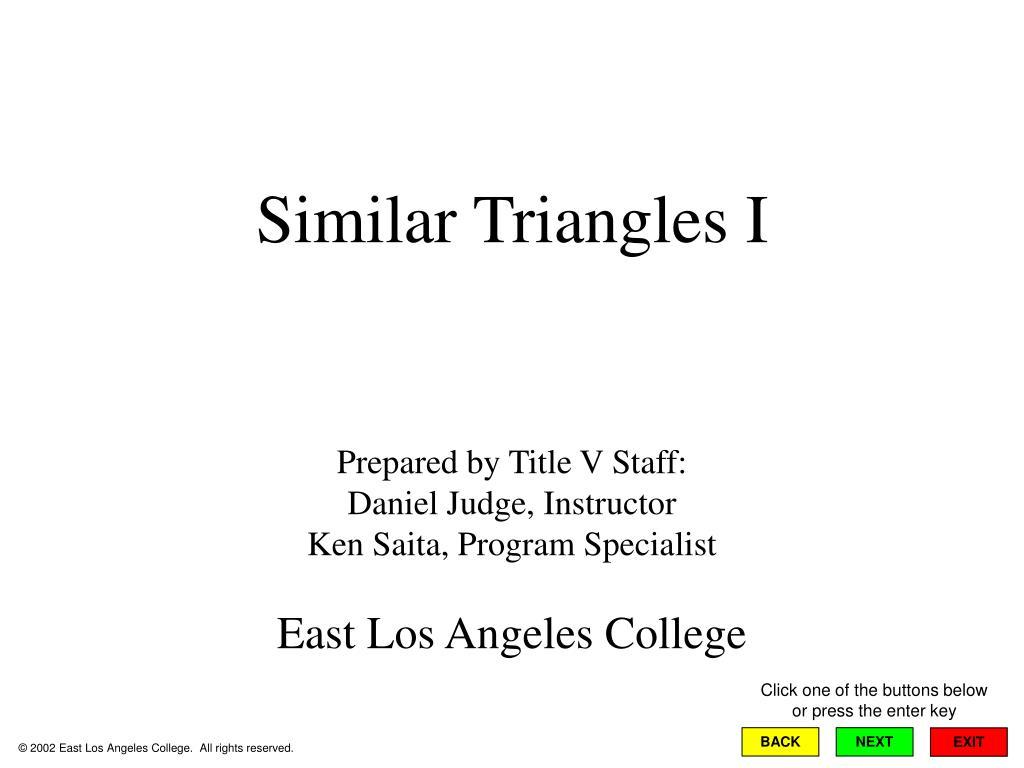similar triangles i l.