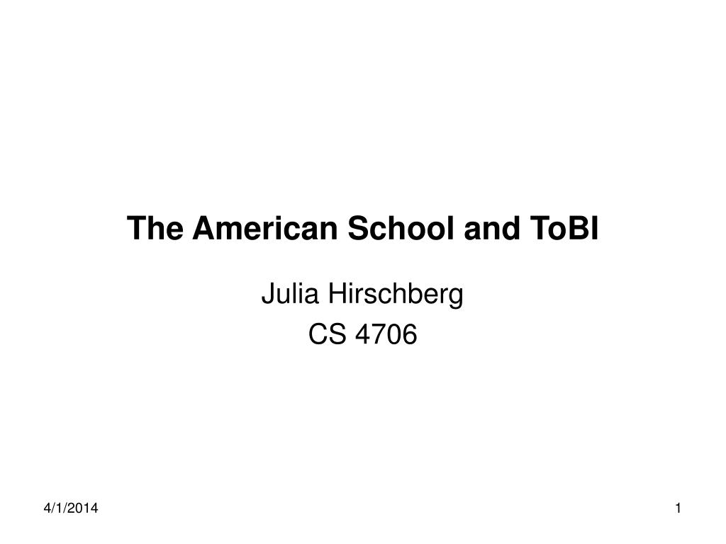 the american school and tobi l.