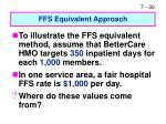 ffs equivalent approach