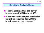 sensitivity analysis cont25