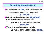 sensitivity analysis cont26