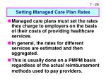 setting managed care plan rates