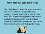 rural medical education track