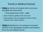 trends in medical schools