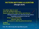 pattern matching algorithm rough draft81