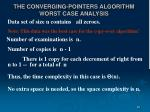 the converging pointers algorithm worst case analysis
