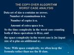 the copy over algorithm worst case analysis