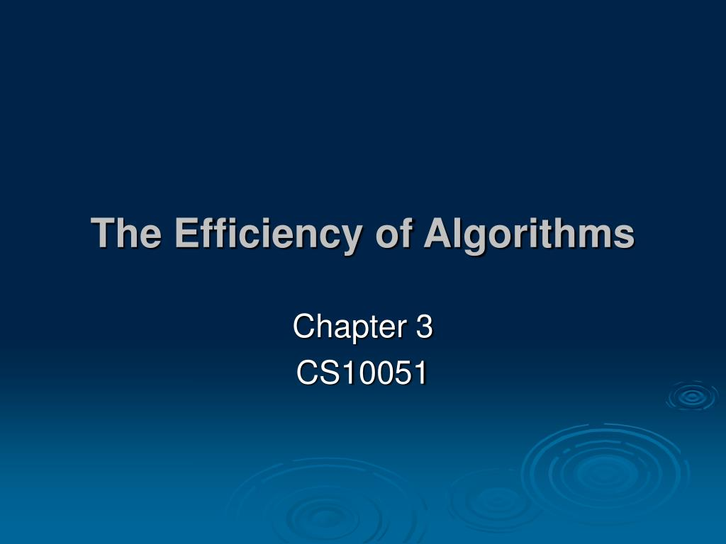 the efficiency of algorithms l.