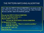 the pattern matching algorithm