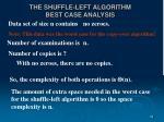 the shuffle left algorithm best case analysis