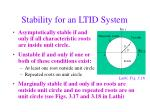 stability for an ltid system