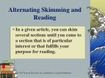 alternating skimming and reading