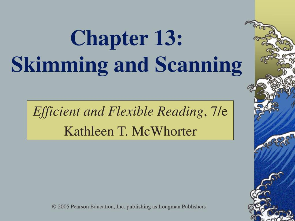 chapter 13 skimming and scanning l.
