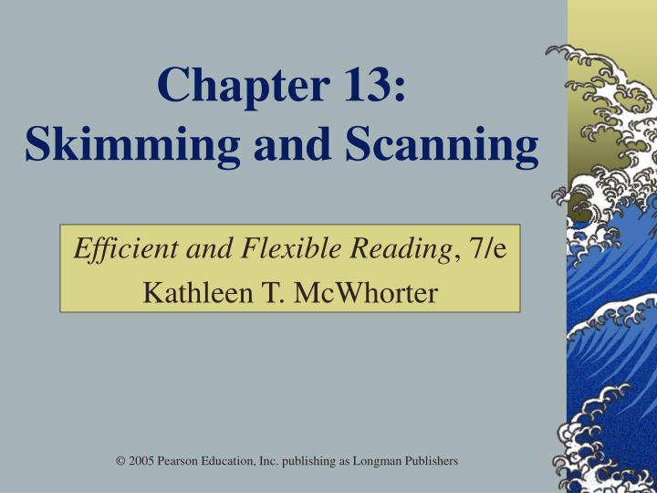 chapter 13 skimming and scanning n.