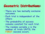 geometric distributions