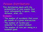 poisson distributions