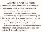 arthritis artificial joints