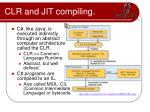 clr and jit compiling