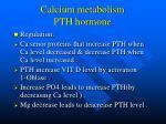 calcium metabolism pth hormone14