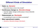 different kinds of simulation