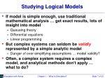 studying logical models