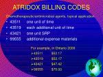 atridox billing codes